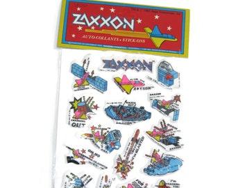 Zaxxon Sega vintage stickers 1980s 80s toys ephemera Taiwan video games