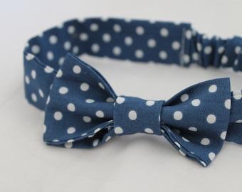 Blue Polka Dot Girl's Headband