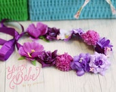 baby flower crown, purple floral headband, baby flower crown, baby floral breath, baby floral headband, floral crown for babies