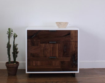 Walnut Patchwork Dresser/ Nightstand