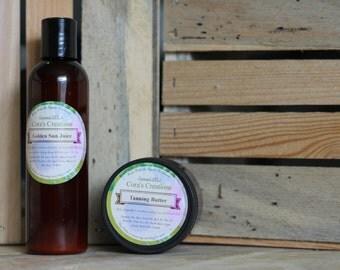 Golden Sun Juice // All Natural Sunscreen // SPF 30 // Zinc Oxide // Healing and Moisturizing // Shea Butter // Coco Butter // Coconut Oil