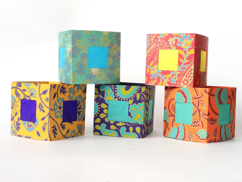 paper lanterns wedding decor luminaries indian print 10. Black Bedroom Furniture Sets. Home Design Ideas