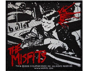 "Band ""Misfits: Bullet"" Kennedy Single Cover Hardcore Punk Sew On Applique Patch"