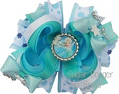 Frozen Bottlecap Hairbow Frozen Elsa Bottlecap Hairbow Frozen Hairbow OTT Frozen Bow