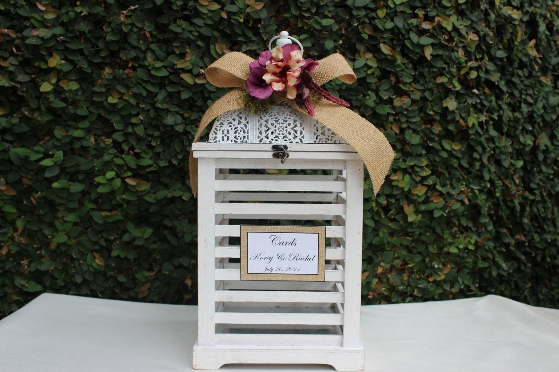 Wedding Card Box / Lantern Large Wood card Box / by JumbledBrains