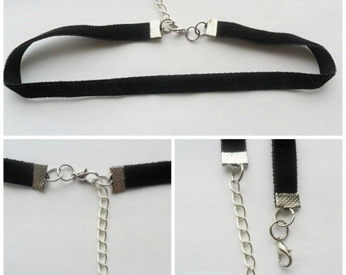 "Velvet choker, necklace, black ribbon, ribbon choker necklace, adjustable size with a width of 3/8,"" ( pick your neck size)"