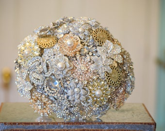 Ready to Ship Custom Brooch Bouquet 12 inch bouquet