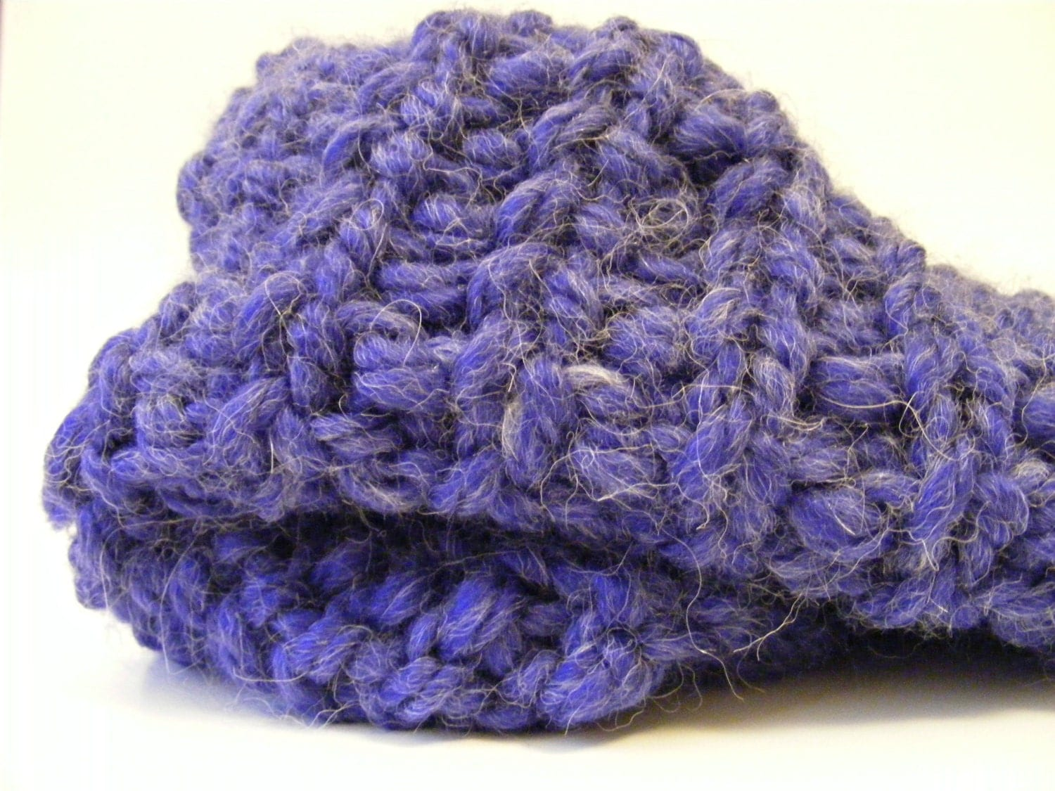 Alpaca Cowl Knitting Pattern : Chunky Wool Knit Cowl Purple Alpaca Ribbed by ...