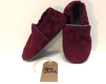 Children's Suede Slippers - Two Tone