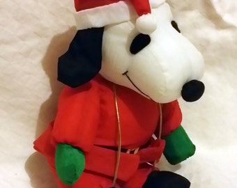 Snoopy Santa Plush from Witmans