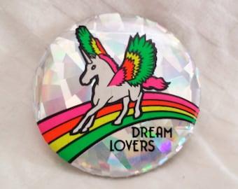 Retro Vintage Unicorn Pin 80s
