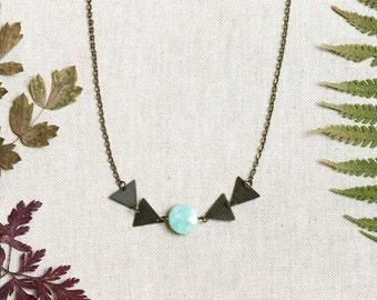 SALE AURAI Triangle Necklace