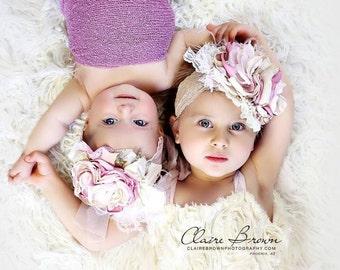 Baby Girl Headband, Flower Girl Headband, Baby Headband, Tutu Du Monde, Lace Baby Headband, Newborn Headband, Dollcake Headband,