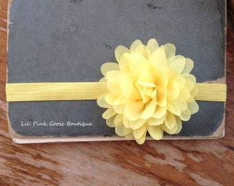 YELLOW PETAL FLOWER Headband, Baby, Newborn Headband, Yellow Headbands, Newborn Baby, Headbands, Infant Headbands, Headbands for Babies
