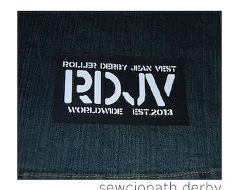 Roller Derby Jean Vest Patch
