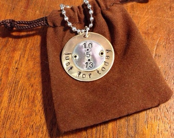 Recovery Date Pendant Brass and Sterling Silver
