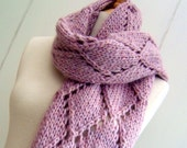 Knitting Pattern scarf wrap Easy Knit Diamond Lattice Scarf  Pattern PDF Instant Digital Download
