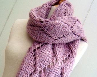 Knitting Pattern scarf wrap Easy Knit Diamond Lattice Scarf  Pattern PDF Instant Digital Download