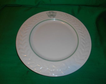 "Four (4), 10 1/2"" Dinner Plates, (Carlton Shape) from the Hollywood Golf Club, by Shenango China"