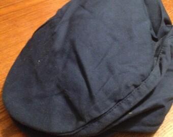 Navy Blue Newsboy Cotton Cap