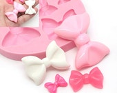 Mutiple Size Bow Ribbon Set 430L* Silicone Mold Gumpaste Fundant Polymer Clay Chocolate Melte Candy Mold Cake Decoration diy BEST QUALITY