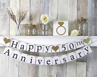 Anniversary Decor, Anniversary, 50th Anniversary, Anniversary Gift, Wedding Gift, Wedding Anniversary, 50 year anniversary, gift