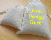 Personalized Cotton Linen Bags Drawstring Fabric Bags Custom Printed Gift Bags Jewelry Pouches