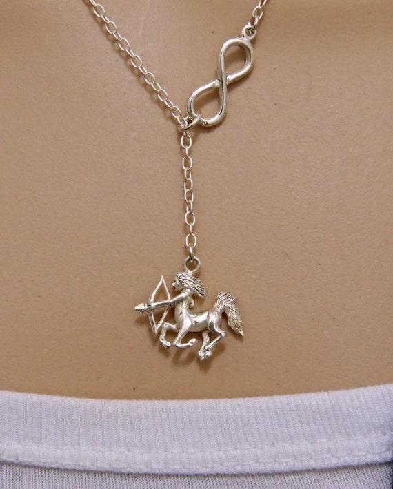 sterling silver sagittarius centaur pendant charm chain