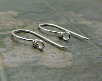 Handmade 20ga Wire Wrapped Loop Sterling Silver Ear wires - MADE TO ORDER