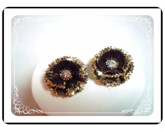 Vintage Layered Earrings -  Darling Flowers E365a-042712000