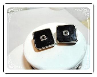 Cardin Enameled Earrings - Vintage Designer Clips  E491a-0718120000
