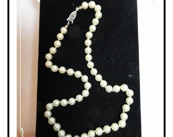 Vintage Pearl Necklace - Forever Classic  Neck-1518-012312000