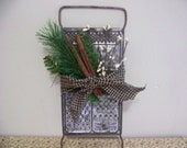 Primitive Vintage Grater Holiday Decoration Hanger