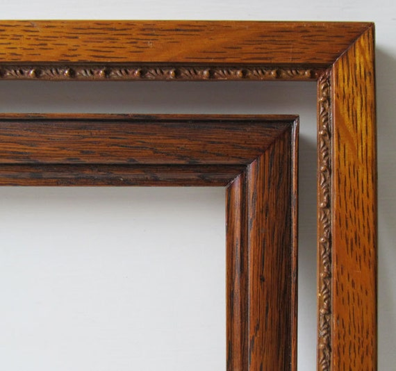 2 antique oak frames with original patina c1910 ready to use in wonderful condition