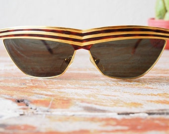 Vintage Designer Sunglasses By Charme Hand Made in Italy 1990's
