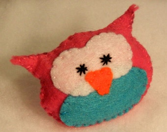 Owl Cutie Catnip Toy - Hand Cut & Sewn - You Pick The Color