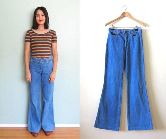 70s Jeans 70s Denim Wrangler Flare Jeans Flare Pants