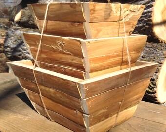 RUSTIC PLANTER BOX, Rustic Flower Box, Woodland Flower Box, Woodland Planter
