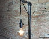 Minimalist Floor Lamp - Industrial Lighting  - Pendant Edison - Steampunk Furniture