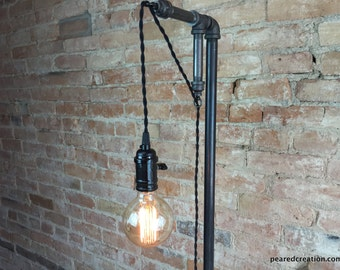 edison bulb floor lamp industrial style bare bulb light. Black Bedroom Furniture Sets. Home Design Ideas