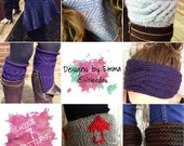 PATTERN DISCOUNT PACKAGE Choice of 7 Listings Deal - Selected Patterns Only Seven Knitting Pattern Bundle Mix and Match