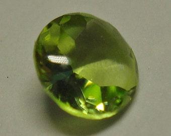 PERIDOT (Forsterite or Olivine Peridot) ( 0.38ct / rare stone, rare cut)