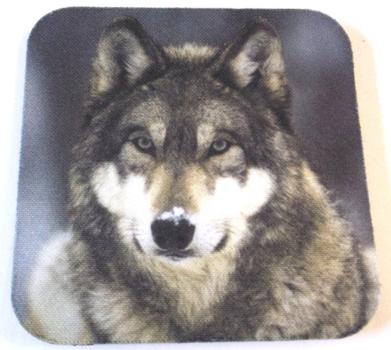 wolf coasters set of 4, wildlife coasters, bar coasters, man cave, drink coasters, coffee coasters, table protectors, rubber coasters,