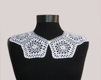 peter pan crochet,crochet collar, peter pan collar, lace collar, collar necklace,Women accessories,hant crochet collar,white Neck lace