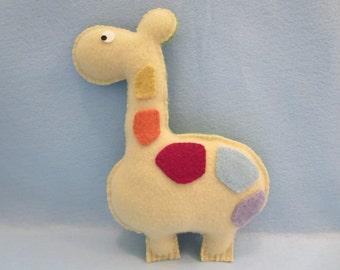 Felted Giraffe Animal Pillow