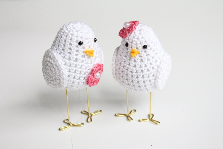 Two Love Birds Wedding Theme Crochet Love Bird Wedding Cake