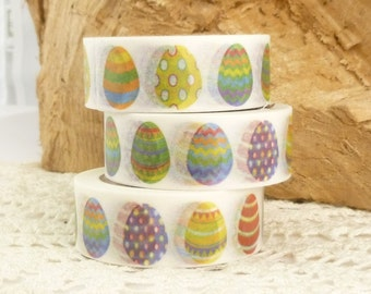 Rainbow, Decorated Easter Eggs, Easter, Spring Washi Tape -  G1589