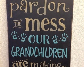 Grandparent Gift, Gift for Grandparent, Grandkids, Grandparents Wood Sign, Grandchildren Making Memories Handcrafted Wood Sign