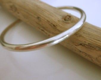 HEAVY sterling silver bangle bracelet - 925 solid sterling silver - round bangle bracelet - thick sterling silver bangle -