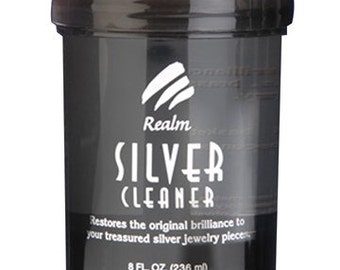 Realm Silver Cleaner 8oz With Basket